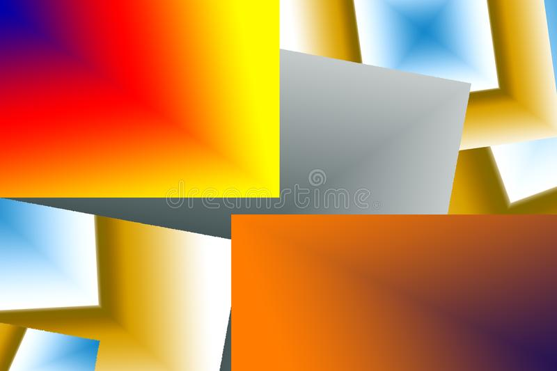 A digital art of vibrant color geometric structure. royalty free stock photography