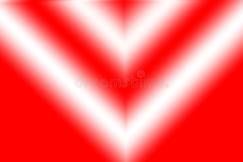 A digital art of vibrant red color geometric structure. vector illustration