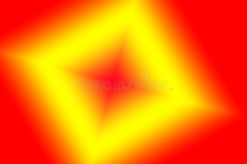 A digital art of vibrant red yellow color geometric structure. royalty free illustration