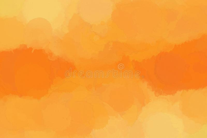 Digital Art Watercolor Painting Abstract Background in Autumn Colors royalty free stock image