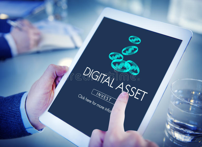 Digital Assets Finance Money Business Concept royalty free stock photos