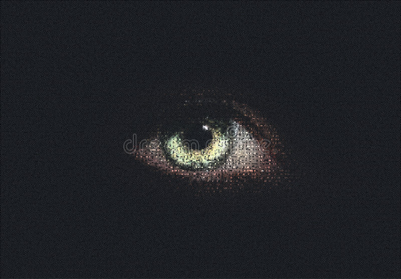 Digital-Auge stockfoto