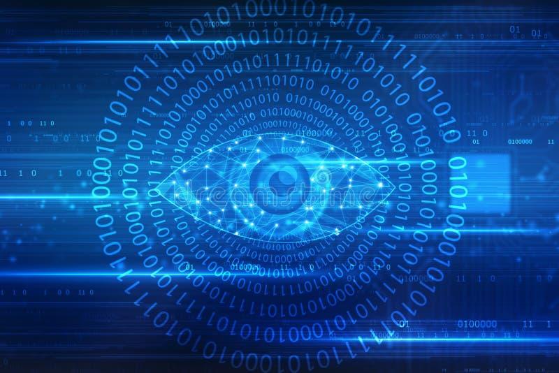 Digital-Auge, Sicherheits-Konzept-Hintergrund vektor abbildung