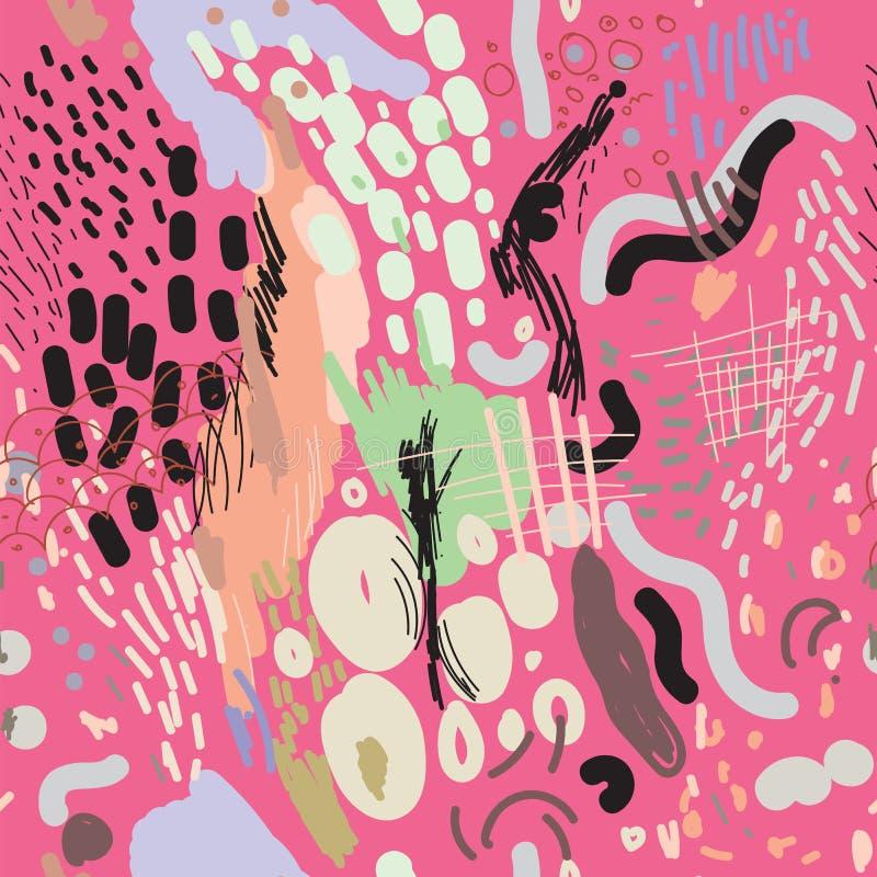 Digital-Bürste streicht nahtloses Muster stock abbildung