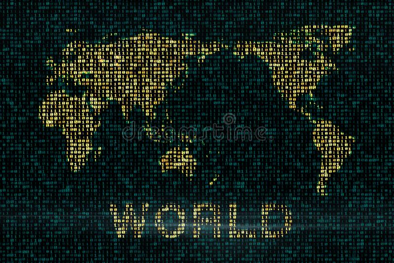 Digital backgrounds with the world map royalty free illustration