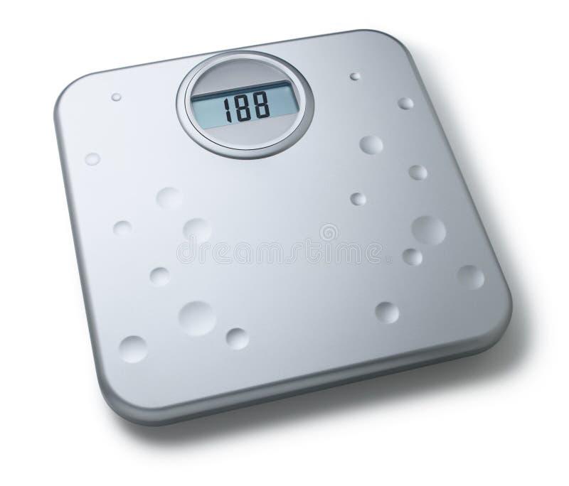 Digital-Badezimmer-Skalen lizenzfreie stockfotos