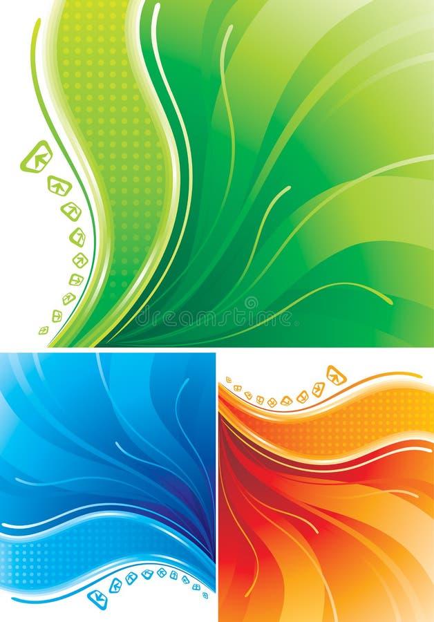 digital bakgrund royaltyfri illustrationer
