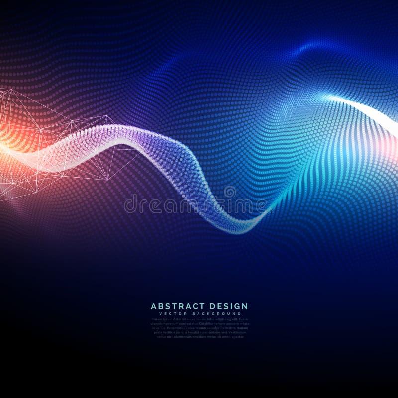Digital bakgrund för teknologi i krabb futuristisk stil vektor illustrationer