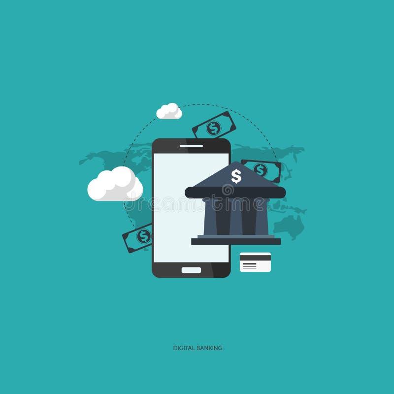 Digital banking. royalty free illustration