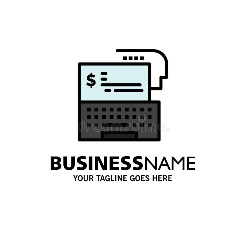 Digital-Bankwesen, Bank, Digital, Geld, on-line-Geschäft Logo Template flache Farbe stock abbildung