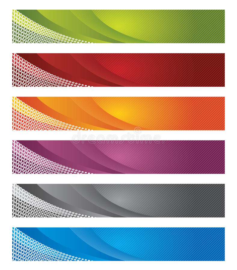 Free Digital Banners In Gradient And Lines Royalty Free Stock Image - 14202596