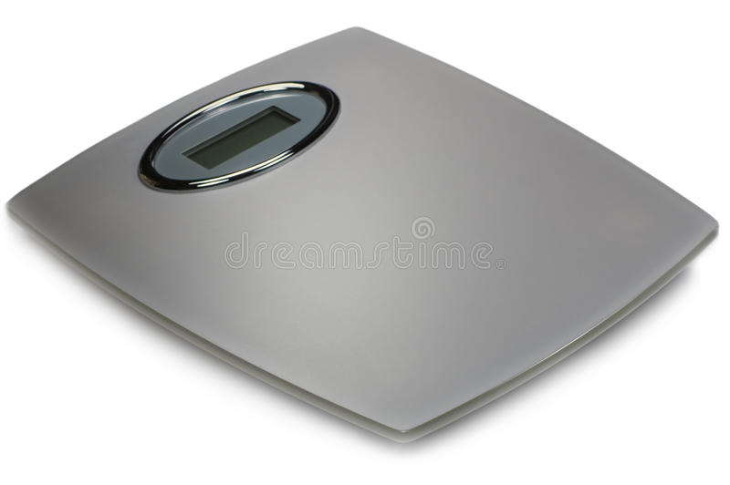 Digital Bathroom Scale Isolated royalty free stock photography
