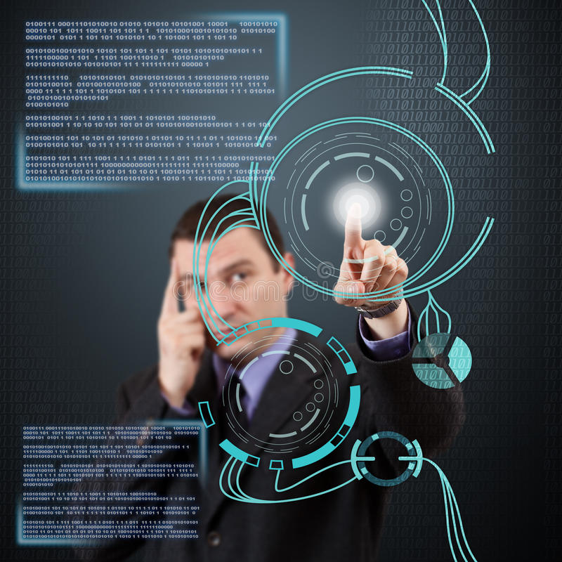 Digital begrepp stock illustrationer