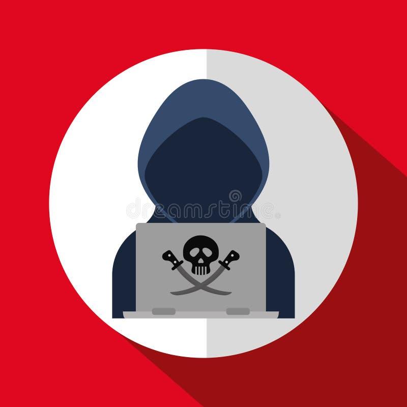 Digital-Betrug und zerhacken Design stock abbildung