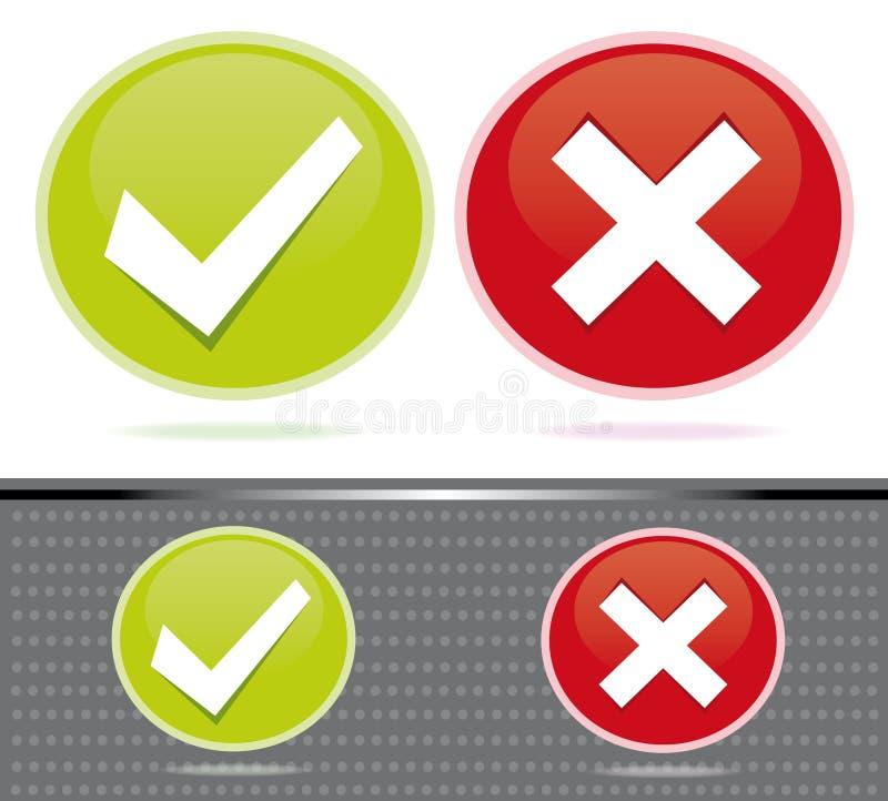 Digital-Bewertung/wählenikonen lizenzfreie abbildung