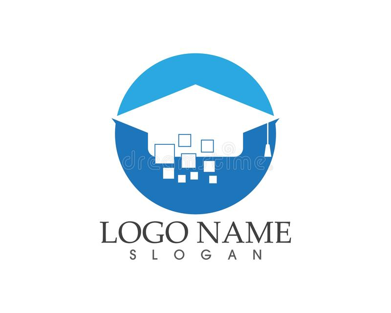 Digital-Bildungsschule-univertsity Logo-Konzept des Entwurfes lizenzfreie abbildung