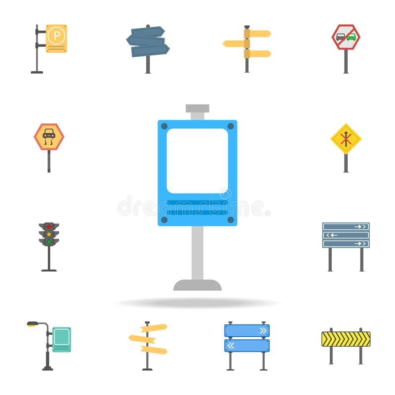 Digital billboard colored icon. Detailed set of color road sign icons. Premium graphic design. One of the collection icons for. Websites, web design, mobile app vector illustration