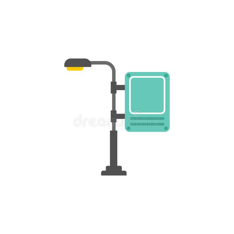 Digital billboard colored icon. Element of road signs and junctions icon for mobile concept and web apps. Colored Digital billboar. D can be used for web and royalty free illustration