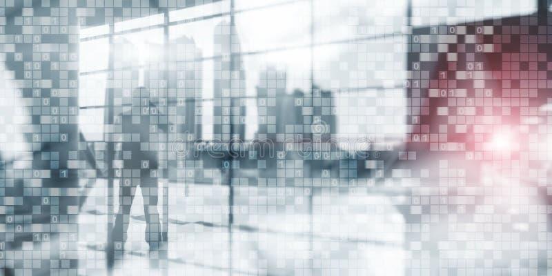 Digital-binär Code-Geschäftshintergrund Matrix-Zusammenfassung futuristisches wallpaper? lizenzfreie abbildung