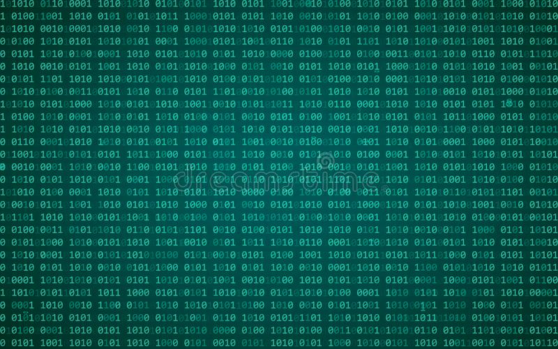 Digital binary data and streaming binary code background. Matrix background with digits 1.0. Vector illustration. Eps 10 stock illustration