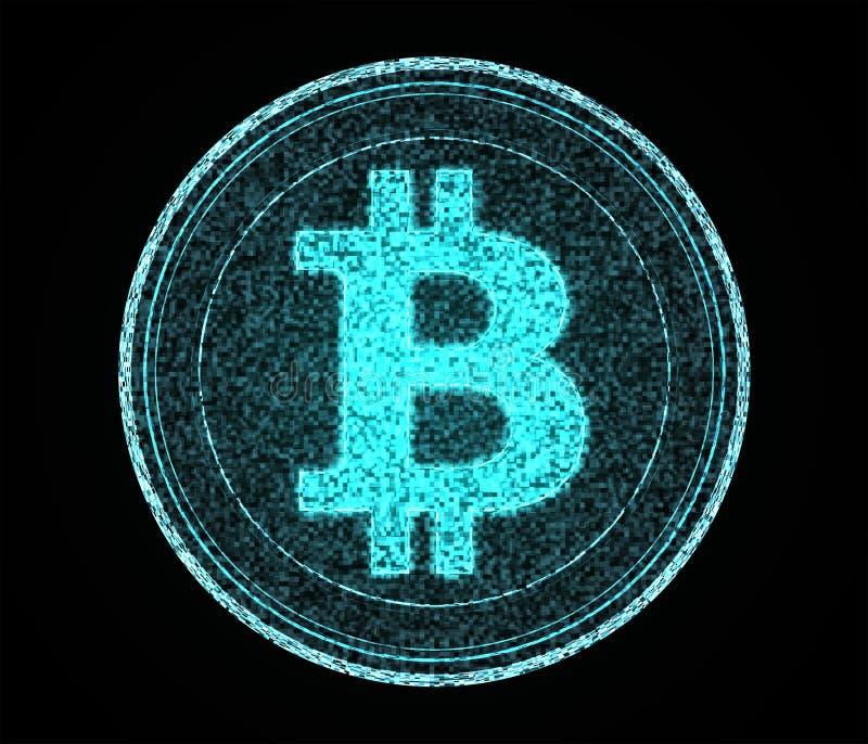 Digital Bitcoin arkivfoton