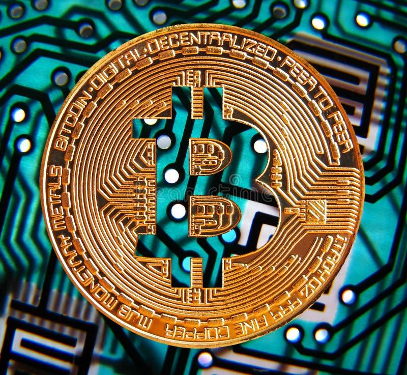Digital-bitcoin cryptocurrency stockfoto