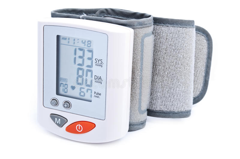 Digital blood pressure measurement royalty free stock photo