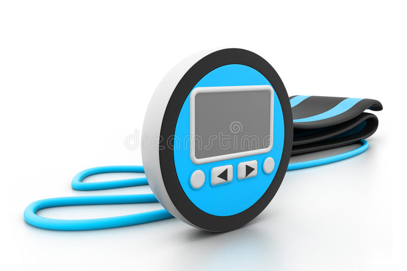 Digital blood pressure meter royalty free illustration