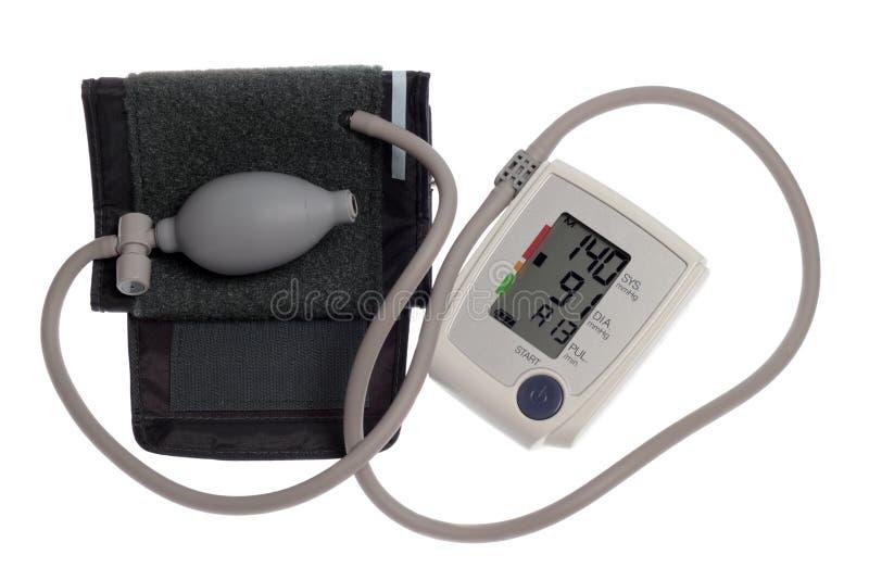 Digital blood pressure monitor stock photos