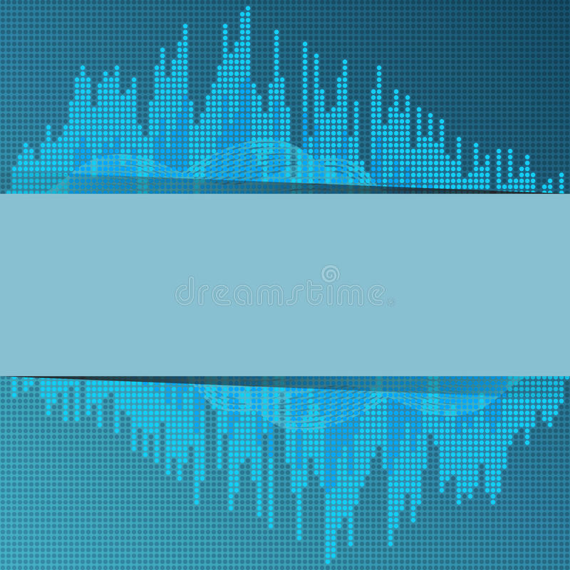 Download Digital blue equalizer. stock illustration. Image of abstract - 32103767