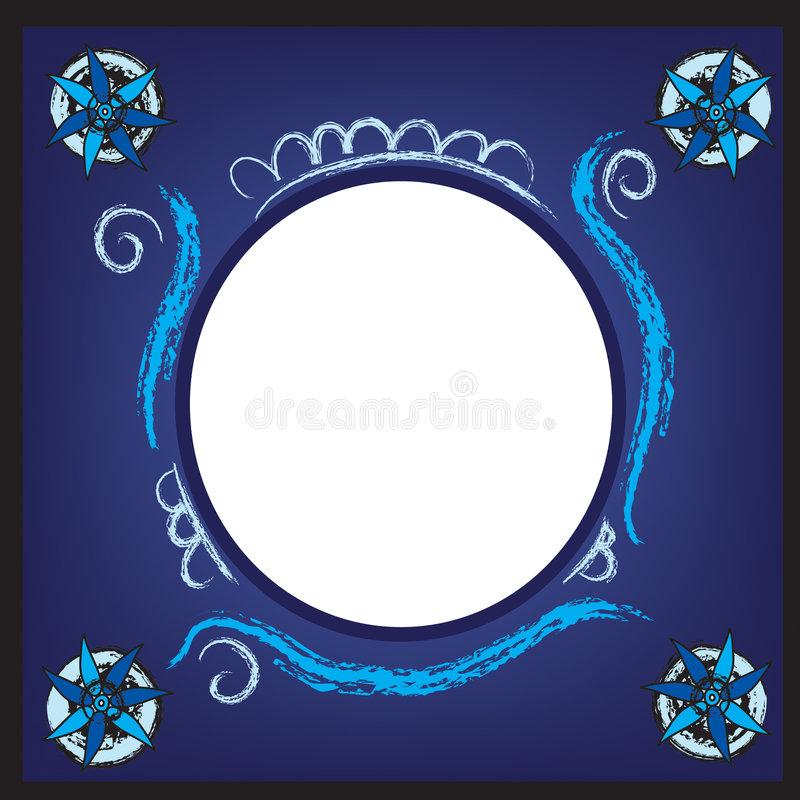 Free Digital Blue Picture Frame Stock Photography - 8558872