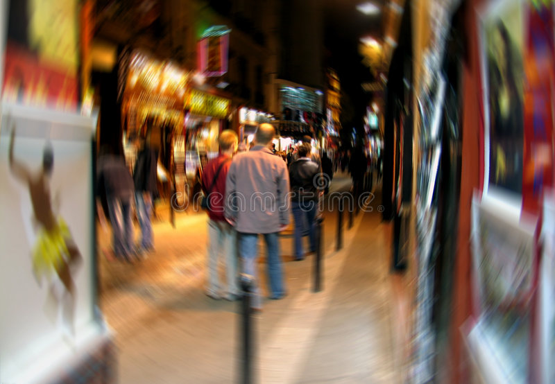 Download Digital Blur Of Latin Quarter In Paris Stock Image - Image: 121043