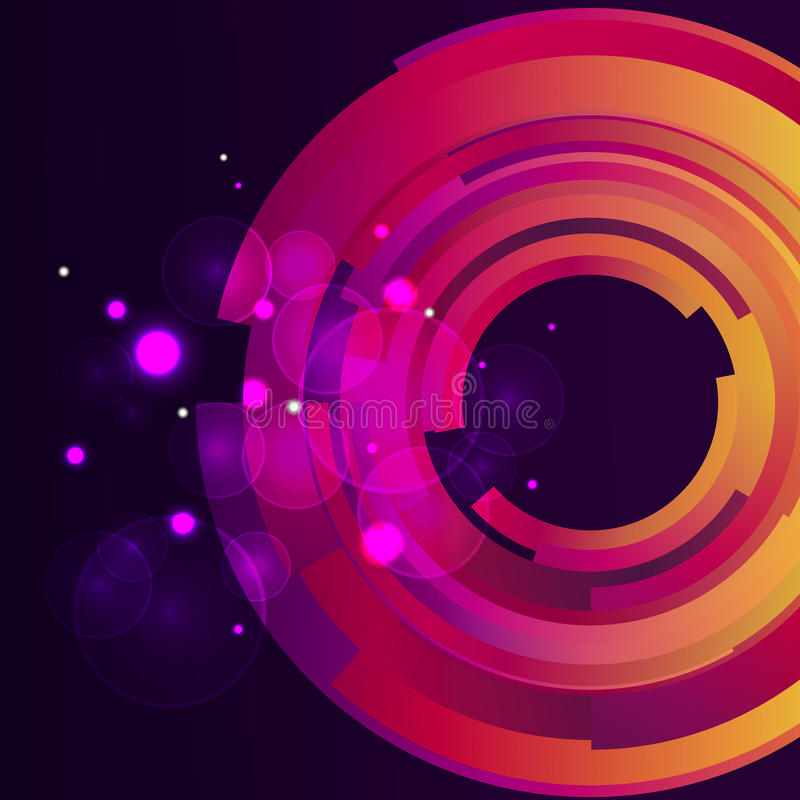 Digital bokehbakgrund för galax stock illustrationer
