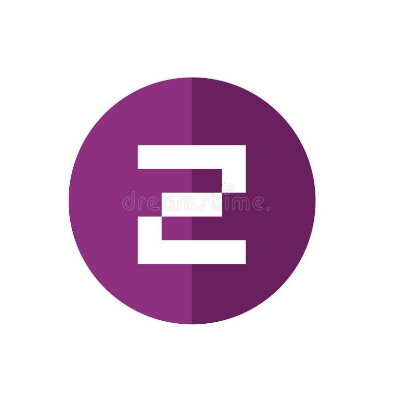 Digital bokstav Z Logo Icon, teknologidesignbegrepp, enkel plan symbol - vektor royaltyfri illustrationer