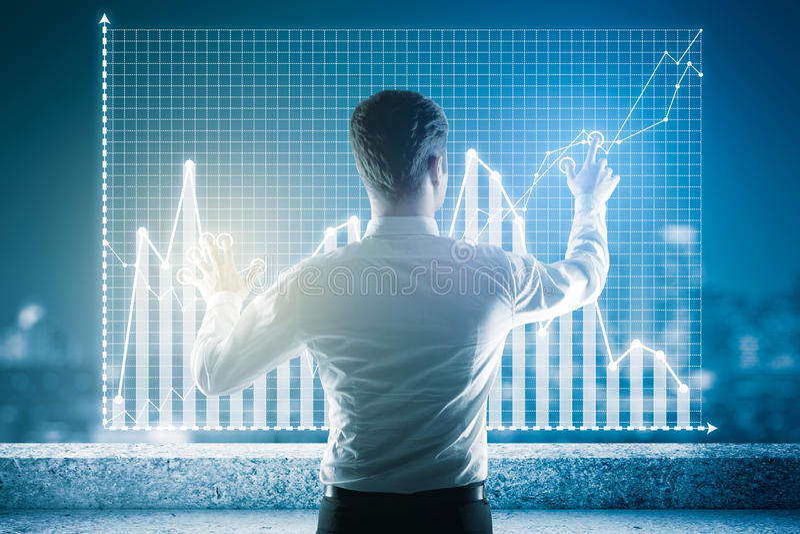 Digital business concept stock photos