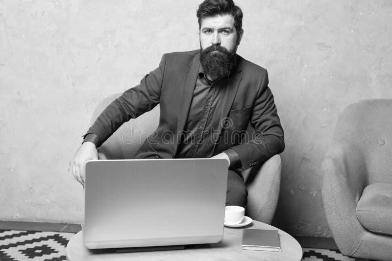 Digital business. Financial consultation. Banker or accountant. Business correspondence. Modern businessman. Businessman stock photo