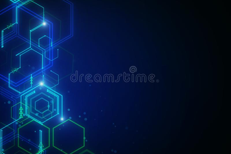 Digital business interface background vector illustration