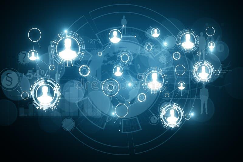 Digital business interface wallpaper. Global business and finance concept. 3D Rendering vector illustration