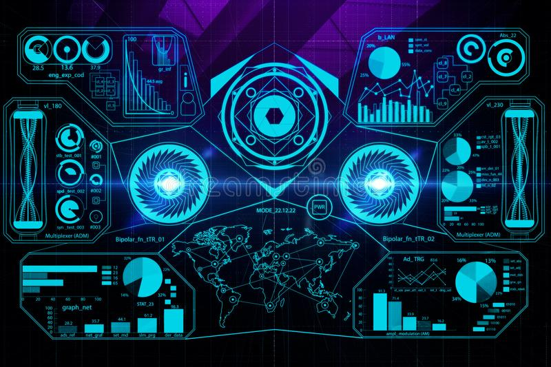 Digital Business Screen Wallpaper Stock Illustration Illustration Of Data Display 107223767