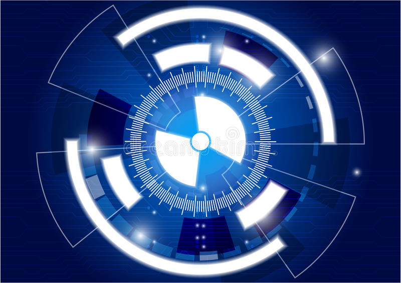 Digital business , vector tech circle and future technology background stock illustration