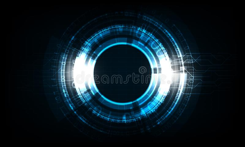 Digital business , vector tech circle and technology background vector illustration