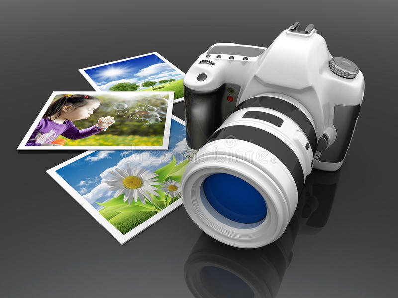 Download Digital camera stock illustration. Illustration of media - 23689697