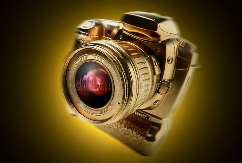 Digital camera. Photo of a Digital camera, 20d against a clean background royalty free stock photos