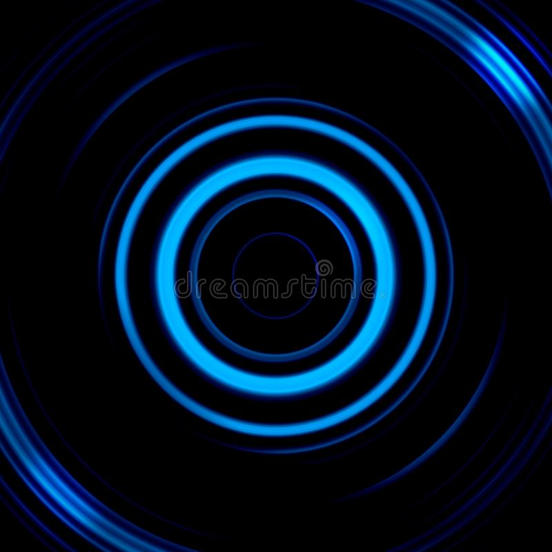 Digital camera with blue eye effect, abstract background royalty free illustration