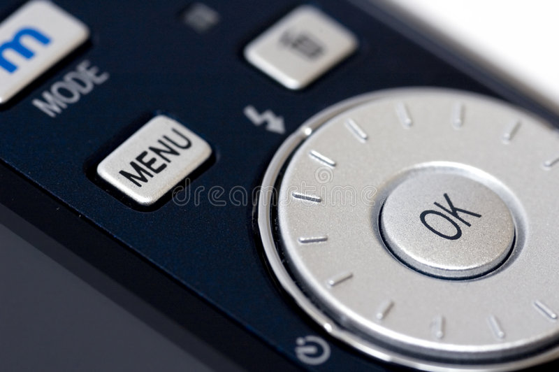 Digital camera closeup stock image