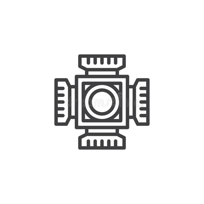 Digital camera cmos outline icon royalty free illustration