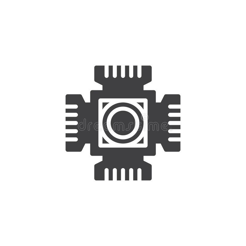 Digital camera cmos vector icon. Digital camera cmos chip vector icon. filled flat sign for mobile concept and web design. CMOS ccd sensor simple solid icon vector illustration