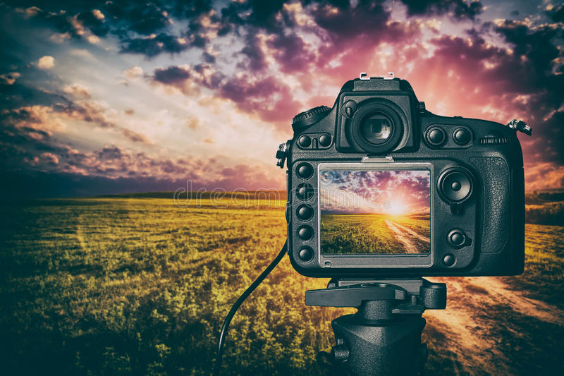 Digital camera concept. royalty free stock photography