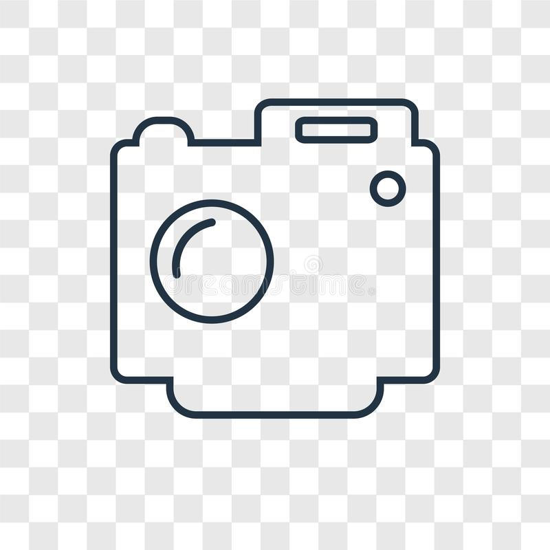 Digital Camera concept vector linear icon isolated on transparent background, Digital Camera concept transparency logo in outline. Digital Camera concept vector stock illustration