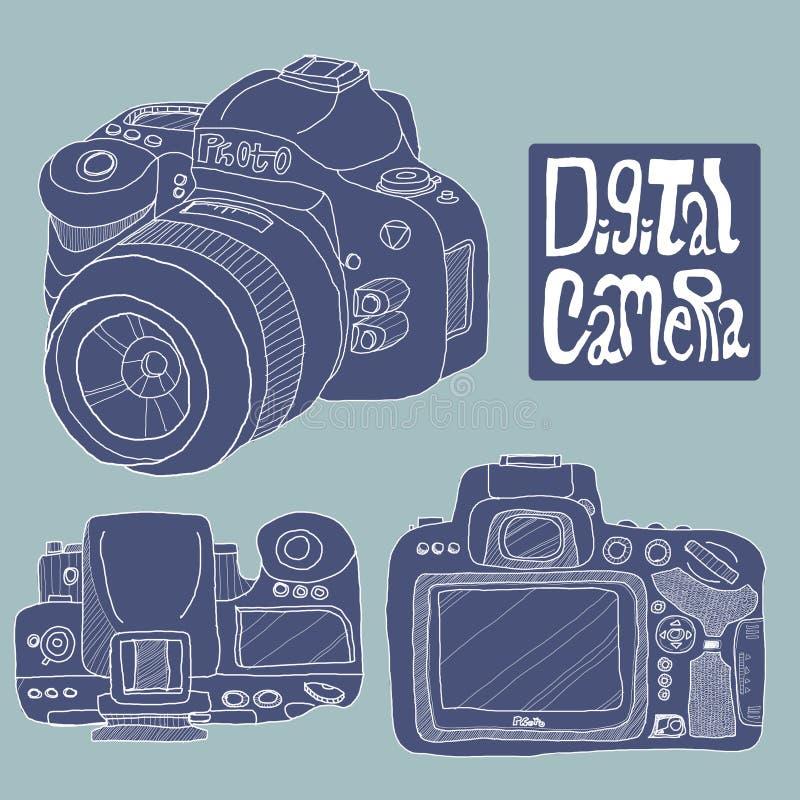 Download Digital Camera Drawing Royalty Free Stock Photo - Image: 19665255